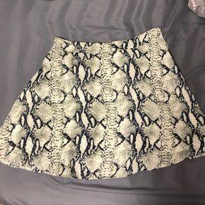 Toni Snake Mini Skirt